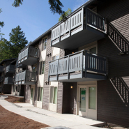 Exterior view of the Birnam Wood Apartments