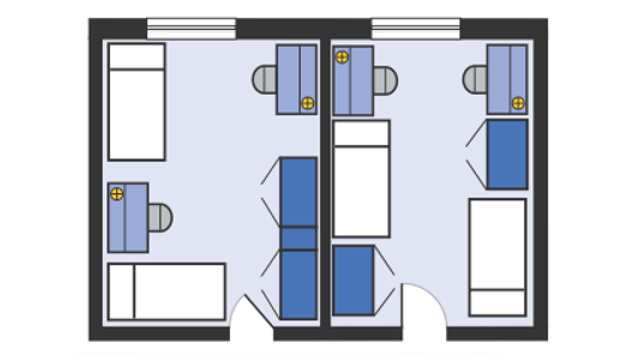 Delta Double Room layout