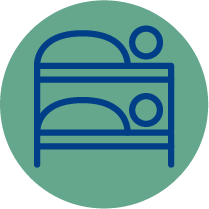Icon resembling bunk beds