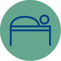 Icon resembling a lofted bed