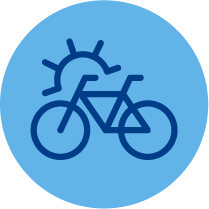 Icon resembling outdoor bike storage