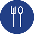 An icon of a fork and a spoon
