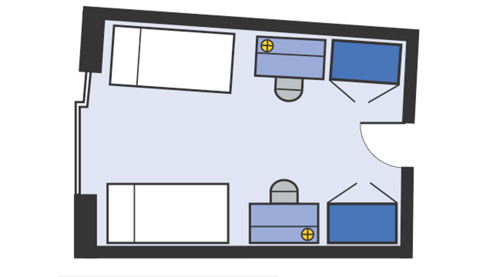 Nash double room floorplan